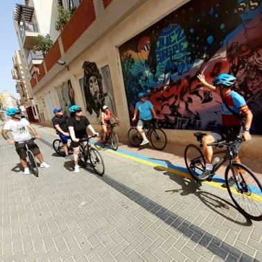 Urban art bike tour Murcia