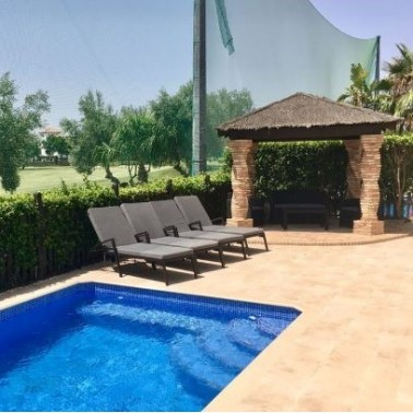 Cycling accommodation with a golf course view on Mar Menor Golf Resort