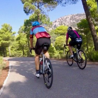Cycling towards the summit of the Sierra Espuna