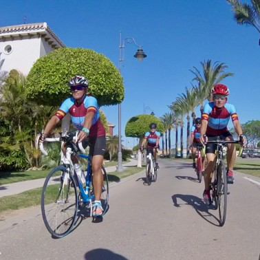 Cycling in Calpe -  Cycling alongside the pros