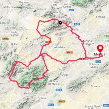 Cycling in Murcia Audax Cycling Route