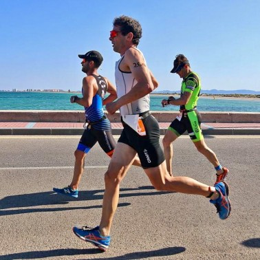 Running alongside the Mar Menor, Murcia, Spain.