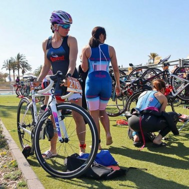 Spain triathlon camp with a local Spanish triathlon event